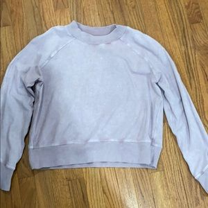 Lululemon snow washed mauve sweatshirt